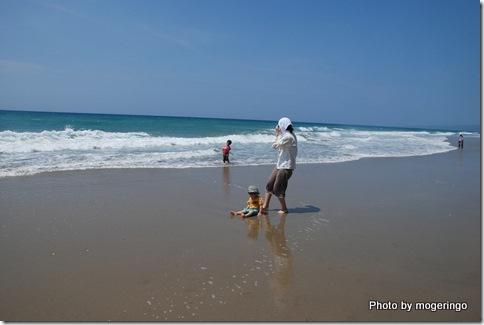 2009年 種子島で海水浴でワイワイ