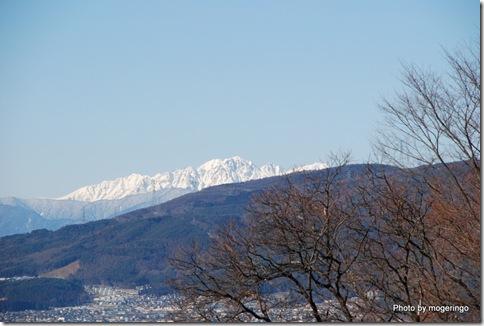 立石公園からの雪山