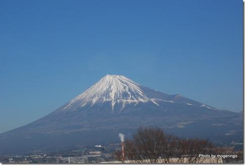 富士山の雪化粧