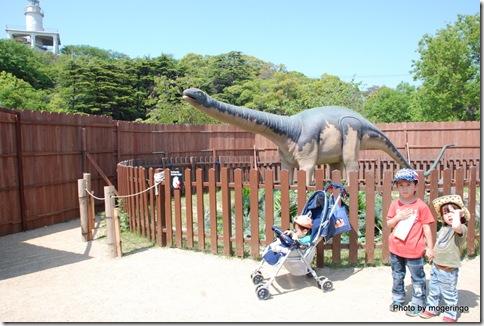 恐竜記念撮影
